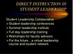 direct instruction in student leadership