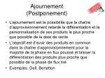 ajournement postponement