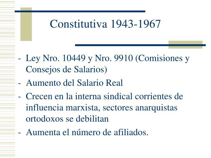 Constitutiva 1943 1967