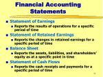 financial accounting statements