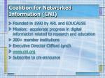 coalition for networked information cni