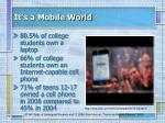 it s a mobile world