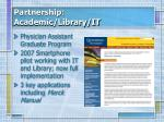 partnership academic library it