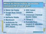 where do these mobile accessible resources fit in your plan