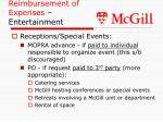 reimbursement of expenses entertainment