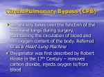 cardiopulmonary bypass cpb