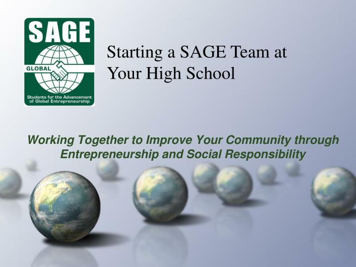 working together to improve your community through entrepreneurship and social responsibility n.