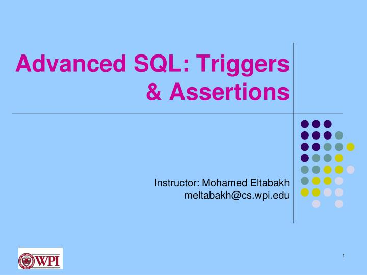 advanced sql triggers assertions n.