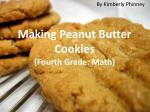 making peanut butter cookies fourth grade math