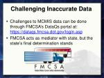 challenging inaccurate data1