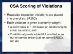 csa scoring of violations