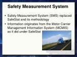 safety measurement system