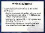who is subject1