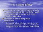 the chilling effect