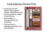 carboniferous period cont