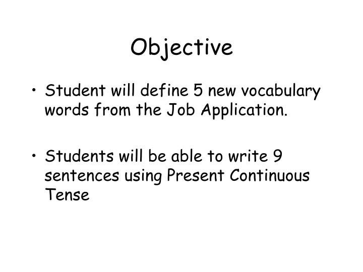 objective n.