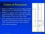 center of percussion