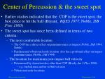 center of percussion the sweet spot