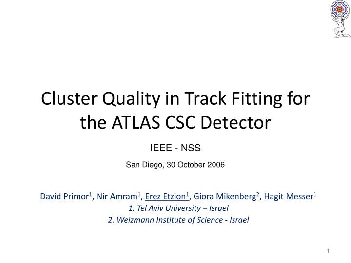 cluster quality in track fitting for the atlas csc detector n.