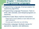 chapter 1 introduction to programming languages