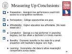 measuring up conclusions
