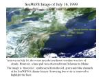 seawifs image of july 16 1999