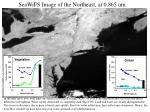 seawifs image of the northeast at 0 865 um