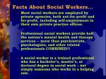 facts about social workers