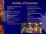 fields of practice