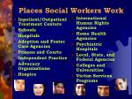 places social workers work