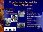 populations served by social workers
