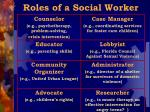 roles of a social worker