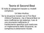 teorie di second best