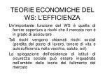 teorie economiche del ws l efficienza