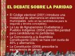 el debate sobre la paridad1