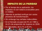 impacto de la paridad