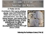 become a useful tool for the master