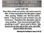 hungering for god s word and to do god s work