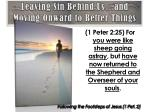 leaving sin behind us and moving onward to better things