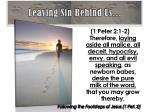 leaving sin behind us