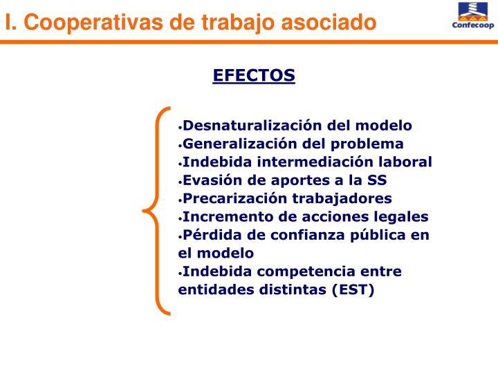 I. Cooperativas de trabajo asociado