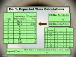 ex 1 expected time calculations
