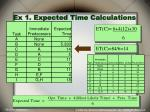 ex 1 expected time calculations1