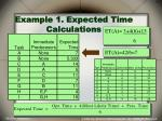 example 1 expected time calculations
