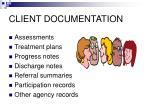 client documentation