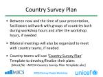 country survey plan4