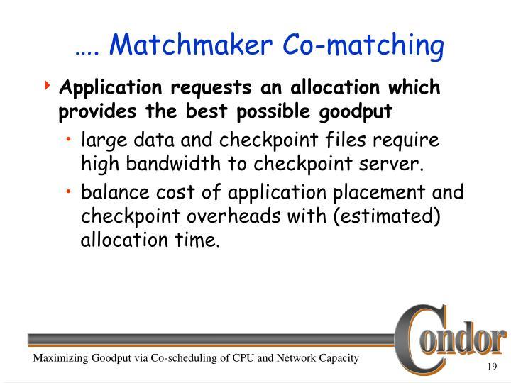 …. Matchmaker Co-matching