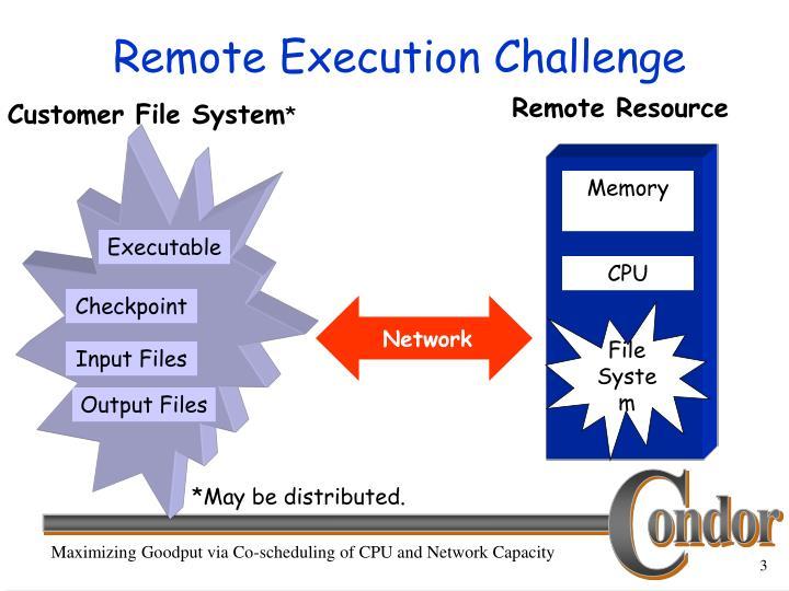 Remote execution challenge