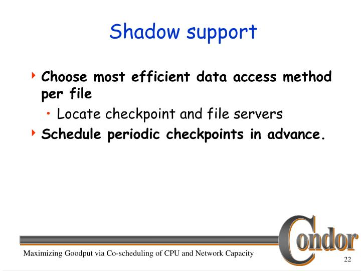 Shadow support