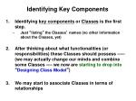 identifying key components